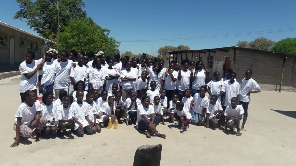 Adolescent girls and young women at Omuukwiyugwemanya Combined School, Oshikoto region in December 2018. Photo by Dr. Samson Ndhlovu for IntraHealth International.
