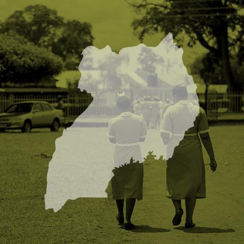 Uganda map icon