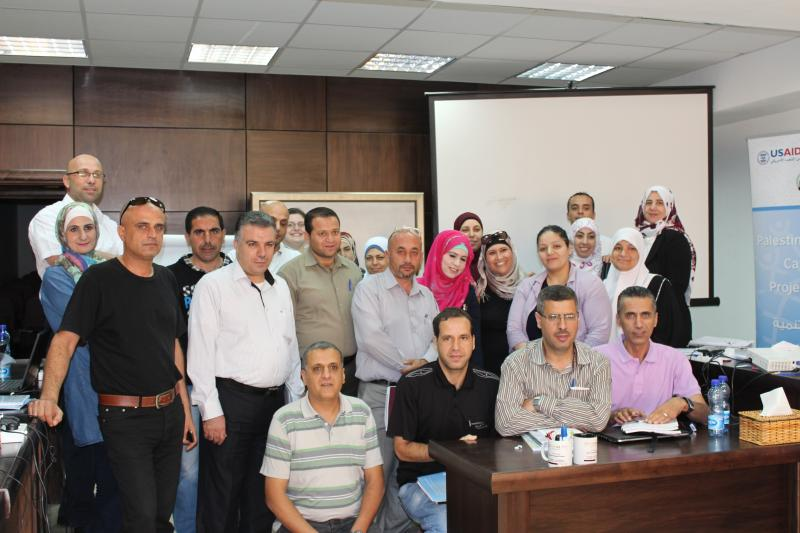 """These Ministry of Health staff took part in the """"Advanced Searching Techniques"""" 3-day training in Ramallah, Palestine. Photo courtesy of Stephanie Brantley."""